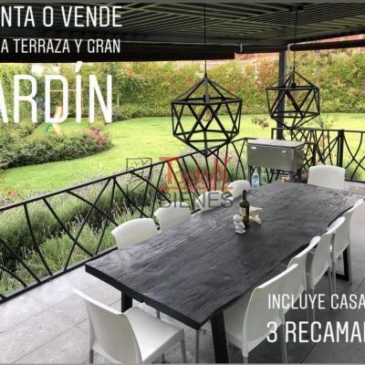 Residencia con gran jardín y terraza, 3 o 4 recámaras y roofgarden