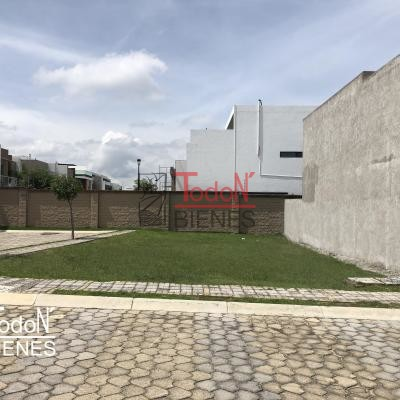 Terreno es esquina frente área verde, Parque Guanajuato, Lomas de Angelópolis Cascatta (PG/G-MA19)